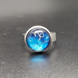 Capricorn Zodiac Astrology Adjustable Ring